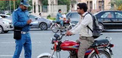 لاہور میں ایک لاکھ 71 ہزار بغیر ہیلمٹ موٹر سائیکل سواروں کو جرمانے کئے گئے