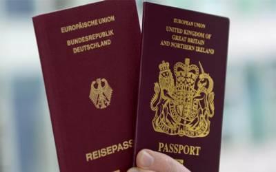 جرمن پاسپورٹ کیلئے درخواست دینے والے برطانوی شہریوں کی تعداد میں اضافہ