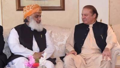 مولانا فضل الرحمان کی جاتی امرا میں سابق وزیراعظمنوازشریفسے ملاقات