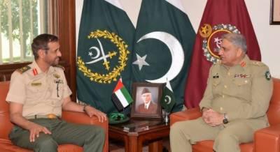 آرمی چیف سےمتحدہ عرب امارات کی بری فوج کے کمانڈرکی ملاقات