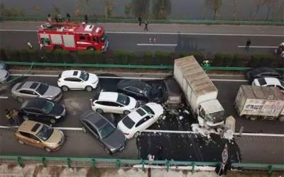 چین میں ٹرک اور گاڑیوں کے تصادم میں 14 افراد ہلاک