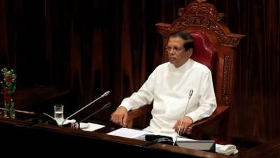سری لنکن پارلیمنٹ کی معطلی میں 10روز کی توسیع