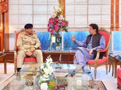 آرمی چیف کی وزیراعظم عمران خان سے ملاقات، دورہ چین پر تبادلہ
