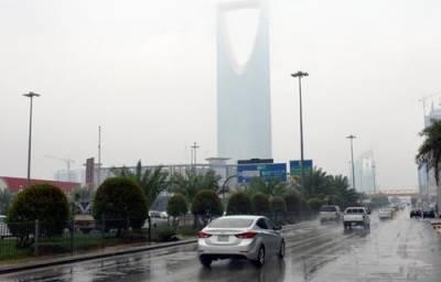 سعودی عرب کے بیشتر علاقوں میں آج سے جمعہ تک بارش کا امکان