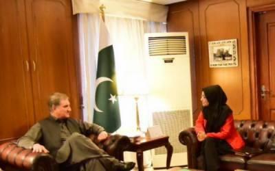 شاہ محمود قریشی سے ڈاکٹرفوزیہ صدیقی کی ملاقات، ڈاکٹر عافیہ کی پاکستان منتقلی پر بات چیت