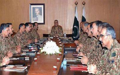 کور کمانڈر کانفرنس ، پاک افغان سرحدی امور ، دہشتگردی کیخلاف آپریشنز پر غور