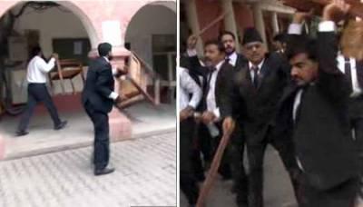 فیصل آباد، مشتعل وکلاء کی سیشن کورٹ اور ڈی سی آفس میں گھس کر ہنگامہ آرائی