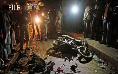 کراچی :قائدآباد پل کے نیچے دھماکہ ، دو افراد جاں بحق ، 8 زخمی