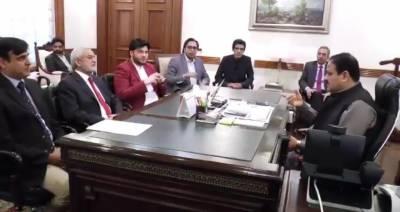 پشاور زلمی کے چیرمین جاوید آفریدی کی وزیر اعلی پنجاب عثمان بزدار سے ملاقات