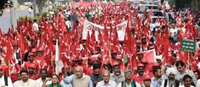 کسانوں کا مودی سرکا ر کے خلاف پارلیمنٹ کی جانب احتجاجی مارچ