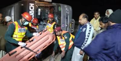 راجن پور، مسافر بس الٹنے سے 4 افراد جاں بحق