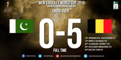 ہاکی ورلڈ کپ ناک آؤٹ مرحلے میں پاکستان کو بیلجیئم کے ہاتھوں عبرتناک شکست