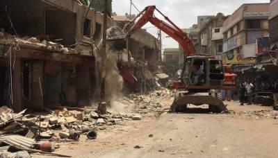 کراچی میں تجاوزات کیخلاف آپریشن جاری رکھنے کا حکم