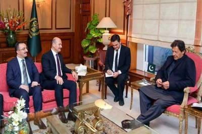وزیراعظم سے ترک وزیر داخلہ کی ملاقات، اہم امور پر تبادلہ خیال