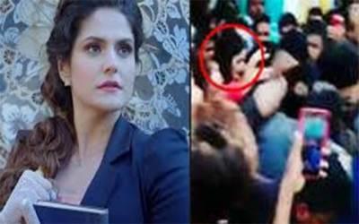 زرین خان کو مداحوں نے گھیر لیا ، غیر اخلاقی حرکات ، اداکارہ کی تھپڑوں کی بارش
