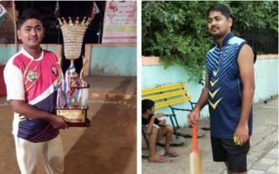 بھارت میں مقامی ٹینس بال کرکٹ ٹورنامنٹ کے دوران 24 سالہ کھلاڑی دوران کھیل چل بسا