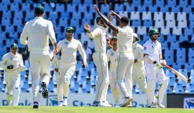 جنوبی افریقہ کیخلاف پہلے ٹیسٹ میچ میں پاکستانی ٹیم 181 رنز پر ڈھیر