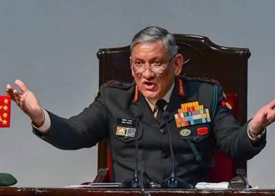 طالبان سے مذاکرات ہوسکتے ہیں لیکن کشمیریوں سے نہیں، بھارتی آرمی چیف