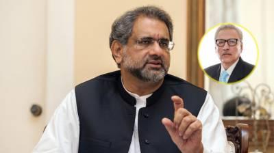 امید ہے کہ عارف علوی پاکستان کے بہترین صدر ثابت ہونگے،شاہد خاقان عباسی