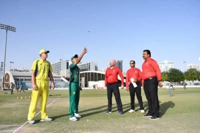 انڈر16کرکٹ،پاکستان کا آسٹریلیا کیخلاف ٹاس جیت کربیٹنگ کا فیصلہ