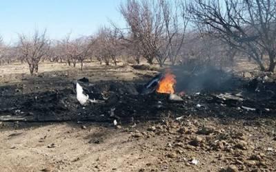 پاکستان فضائیہ کا طیارہ مستونگ کے قریب گر کر تباہ ، پائلٹ شہید