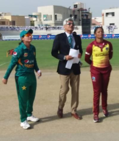 پاکستان اور ویسٹ انڈیز ویمن ٹیموں کا پہلا ٹی20 مقابلہ شروع