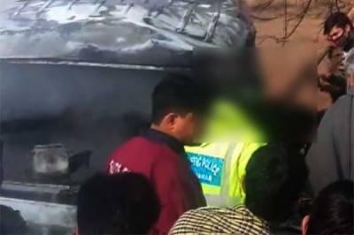 کرک ، انڈس ہائی وے پر حادثہ، 13 افراد جاں بحق