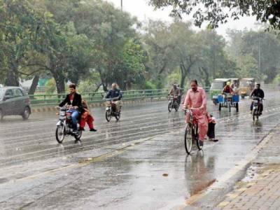 آج اور کل ملک کے بیشتر علاقوں میں بارش کی پیشگوئی