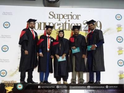 سپیریئر یونیورسٹی کا سالانہ کانووکیشن، 2300 طلبا و طالبات میں اسناد تقسیم