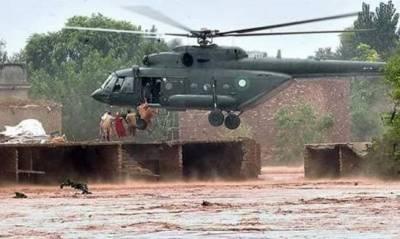 پاک فوج کا بلوچستان میں سیلاب سے متاثرہ علاقوں میں ریسکیو آپریشن جاری