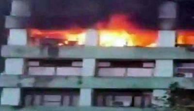 بھارتی فضائیہ کے دفتر کی عمارت میں آگ لگ گئی