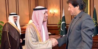 سعودی وزیر خارجہ کی وزیر اعظم سے ملاقات ،سعودی ولی عہد کا خصوصی پیغام پہنچا دیا