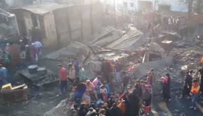 مودی سرکار کا گھناؤنا کام، دو سو مسلمانوں کے گھر جلا دیئے