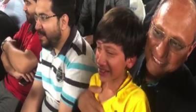 پشاور زلمی کی شکست پر سعید غنی کے بیٹے رو پڑے