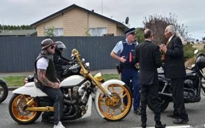 نیوزی لینڈ میں 'بائکرز گینگ' مساجد پر پہرہ دیں گے