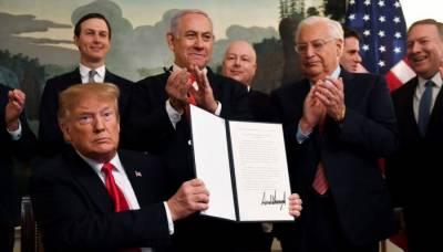 متنازعہ گولان پہاڑیوں پر امریکہ نے اسرائیلی قبضہ تسلیم کر لیا