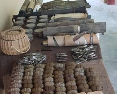 بلوچستان سے بڑی تعداد میں اسلحہ اور گولہ بارود برآمد