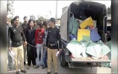 لاہور پولیس کی پتنگ بازوں کیخلاف بڑی کارروائی ، 17افراد کو گرفتار کر لیا