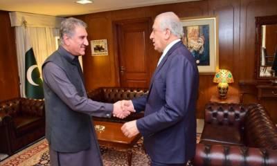 وزیر خارجہ شاہ محمود سے زلمے خلیل زاد کی ملاقات، اہم امور پر تبادلہ خیال