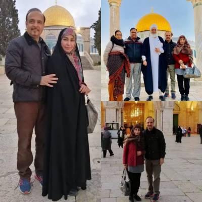 نامور فلمسٹارریما نے اپنے شوہر کے ہمراہ مسجد اقصیٰ میں عبادت کی سعادت حاصل کرلی