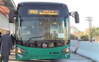 پشاور میں بی آر ٹی بس کی ٹکر سے خاتون جاں بحق