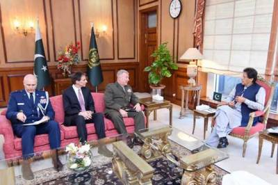 کمانڈر سینٹکام کی وزیراعظم سمیت پاکستان کی عسکری و سیاسی قیادت سے ملاقاتیں