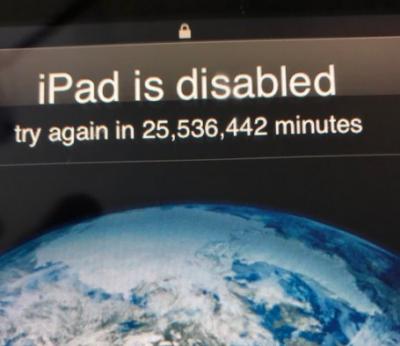 غلط پاسورڈ لگانے پر موبائل فون 48 سال کے لیئے لاک ہوگیا
