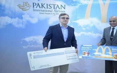 مسافروں کی بڑی مشکل حل ، پی آئی اے کا مکڈونلڈ کراچی سے معاہدہ طے