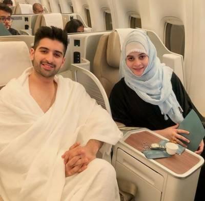 منیب بٹ اور ایمن خان عمرے کی سعادت حاصل کرنے سعودی عرب روانہ