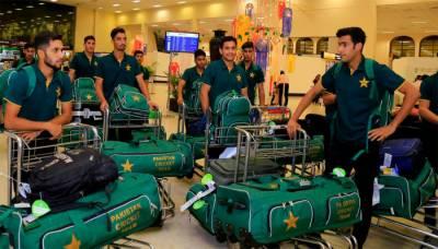 پاکستانی انڈر 19 ٹیم سری لنکا کیخلاف ون ڈے سیریز کھیلنے کیلئے کولمبو پہنچ گئی