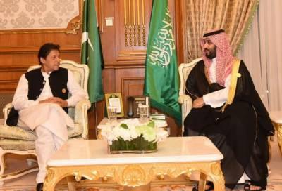 وزیراعظم عمران خان اور سعودی ولی عہد کی ملاقات، اہم امور پر گفتگو