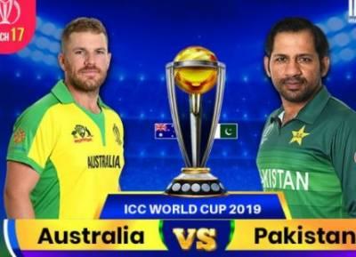 ورلڈ کپ،پاکستان اور آسٹریلیا کا میچ آج،بارش ہونے کے 50 فیصد امکانات