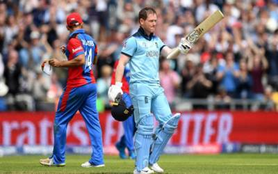 ورلڈ کپ : انگلینڈ نے افغانستان کو فتح کیلئے 398 رنز کا ہدف دیدیا