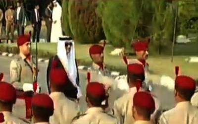 امیر قطر شیخ تمیم بن حمد الثانی 2 روزہ دورے پر پاکستان پہنچ گئے
